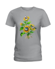 Sharks And Sunflower Ladies T-Shirt thumbnail