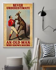 Boxing Old Man 11x17 Poster lifestyle-poster-1