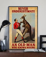 Boxing Old Man 11x17 Poster lifestyle-poster-2