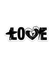 Love Surfing NTV Sticker - Single (Horizontal) front