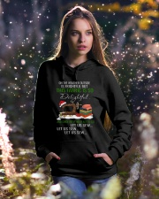 Let Us Sew  Hooded Sweatshirt lifestyle-holiday-hoodie-front-5