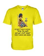I Laugh And Laugh V-Neck T-Shirt thumbnail