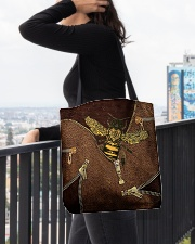For Bee Lovers All-over Tote aos-all-over-tote-lifestyle-front-05