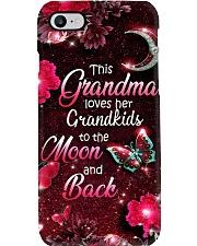 Grandma Loves Grandkids - Red PC Phone Case i-phone-8-case