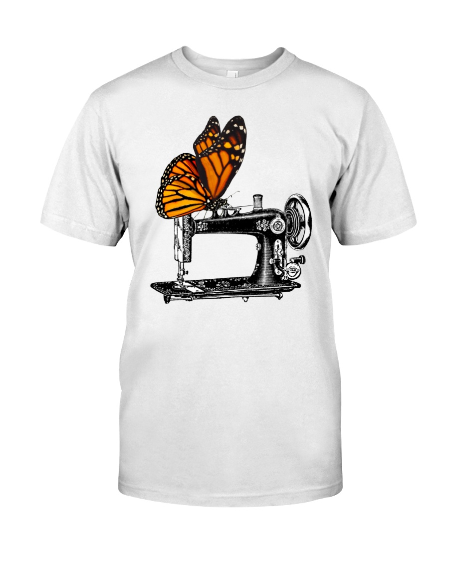A Monarch And A Quilting Machine Classic T-Shirt
