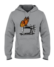 A Monarch And A Quilting Machine Hooded Sweatshirt thumbnail