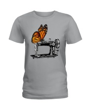 A Monarch And A Quilting Machine Ladies T-Shirt thumbnail