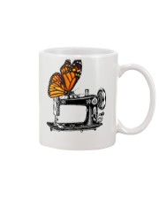 A Monarch And A Quilting Machine Mug tile