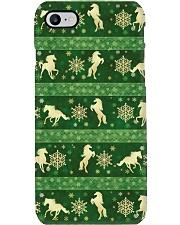 Horse Green Christmas Phone Case Phone Case i-phone-8-case