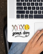 Baseball XOXO Game Day Sticker - Single (Horizontal) aos-sticker-single-horizontal-lifestyle-front-11