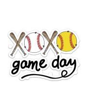 Baseball XOXO Game Day Sticker - Single (Horizontal) front