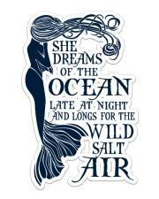 Mermaid She Dreams Of The Ocean Sticker - Single (Vertical) front