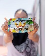 Surfing flip Flops Girl NTV Cloth face mask aos-face-mask-lifestyle-07