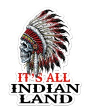 Native It's All Indian Land Sticker - Single (Vertical) front