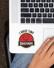 Chicken I Raise Tiny Dinosaurs Sticker - Single (Vertical) aos-sticker-single-vertical-lifestyle-front-11