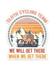 Sloth Cycling Team Sticker - Single (Vertical) front