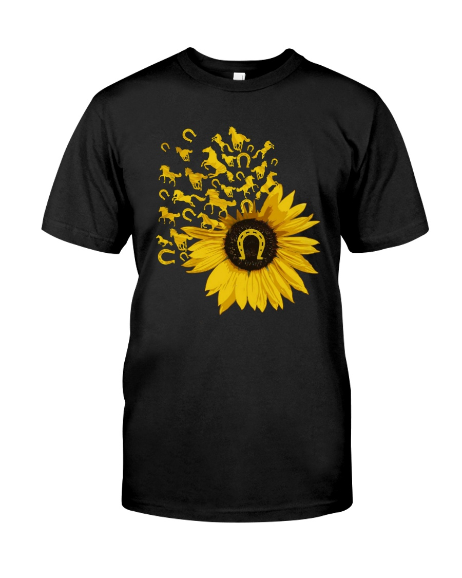 Horses Sunflower Classic T-Shirt