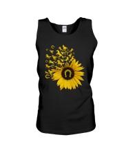 Horses Sunflower Unisex Tank tile