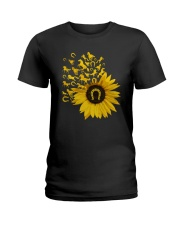Horses Sunflower Ladies T-Shirt thumbnail