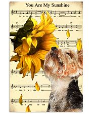 Sunflower Yorkie Sunshine 11x17 Poster front