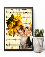 Sunflower Yorkie Sunshine 11x17 Poster lifestyle-poster-8