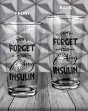 Don't Forget Your Insulin 16oz Pint Glass aos-16oz-pint-glass-lifestyle-front-19