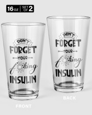 Don't Forget Your Insulin Pint Glass tile