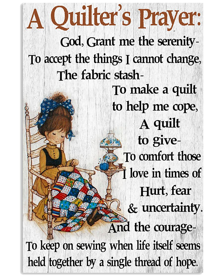 A Quilter's Prayer 11x17 Poster