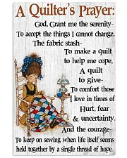 A Quilter's Prayer 11x17 Poster front