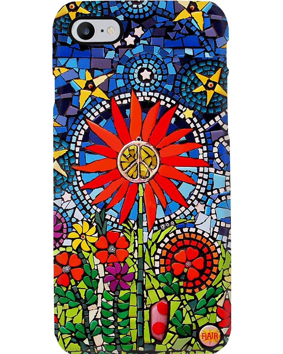 Hippie Stained Glass Phone Case