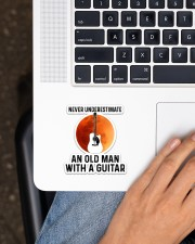 Old Guitar Man Sticker - Single (Vertical) aos-sticker-single-vertical-lifestyle-front-11
