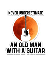 Old Guitar Man Sticker - Single (Vertical) front