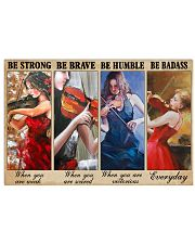 Violin Be Strong Poster 17x11 Poster front