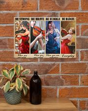 Violin Be Strong Poster 17x11 Poster poster-landscape-17x11-lifestyle-23