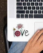 Love Namaste  Sticker - Single (Horizontal) aos-sticker-single-horizontal-lifestyle-front-11