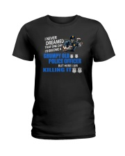 Grumpy Old Police Officer Ladies T-Shirt thumbnail