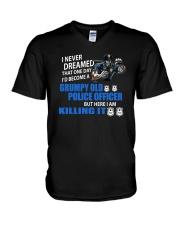 Grumpy Old Police Officer V-Neck T-Shirt thumbnail