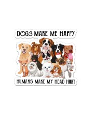 Dogs Make Me Happy Sticker - Single (Horizontal) front