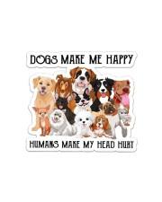 Dogs Make Me Happy Sticker - Single (Horizontal) front