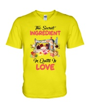 The Secret Ingredient In Quilts Is Love V-Neck T-Shirt thumbnail