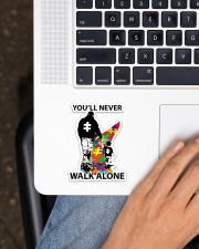 Autism Dad You Never Walk Alone Sticker - Single (Vertical) aos-sticker-single-vertical-lifestyle-front-11