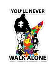 Autism Dad You Never Walk Alone Sticker - Single (Vertical) front