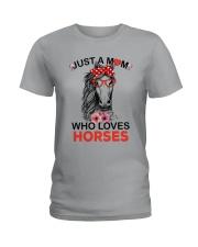 Just A Mom Who Loves Horses Ladies T-Shirt thumbnail