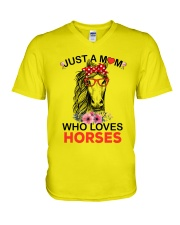 Just A Mom Who Loves Horses V-Neck T-Shirt thumbnail