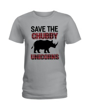 Save The Chubby Unicorn Ladies T-Shirt tile