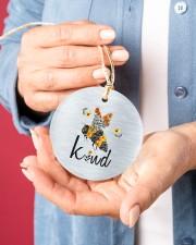 Bee Kind  Circle ornament - single (porcelain) aos-circle-ornament-single-porcelain-lifestyles-01