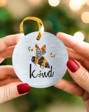 Bee Kind  Circle ornament - single (porcelain) aos-circle-ornament-single-porcelain-lifestyles-08