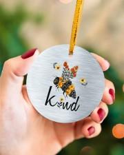 Bee Kind  Circle ornament - single (porcelain) aos-circle-ornament-single-porcelain-lifestyles-09