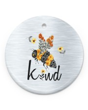 Bee Kind  Circle ornament - single (porcelain) front
