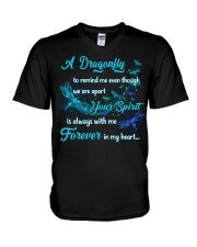 A Dragonfly To Remind Me V-Neck T-Shirt tile